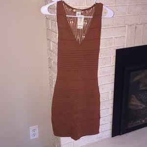 Rust knitted dress!!